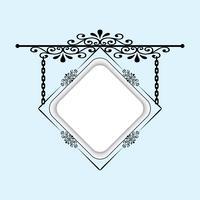 Uma tabuleta para decorar suas idéias. Pode ser usado como uma moldura, tabuleta. vetor