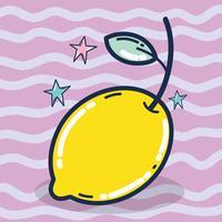 Bonito, limão, caricatura vetor