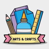 objeto criativo para design de arte e artesanato vetor