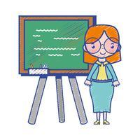 professor ensinando aula no backcoard vetor