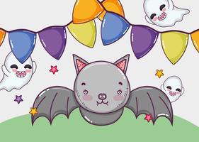 Conceito de desenhos de Halloween vetor