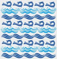 projeto natural do fundo das ondas do oceano vetor