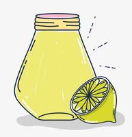 Desenhos animados de suco de fruta de limonada vetor