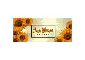 Design de Banner de flor de sol vetor