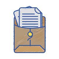 pasta de arquivos com informações do documento comercial