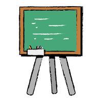 quadro de escola com design de moldura de madeira vetor