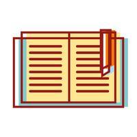objeto de livro de educação para aprender e estudar vetor