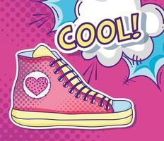 Arte pop sapato legal vetor