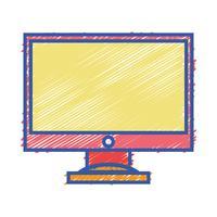 tecnologia eletrônica da tela de computador da cor vetor
