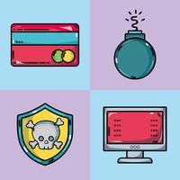 conjunto programador de dados de tecnologia da informação vetor