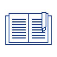 objeto de livro de educação de silhueta para aprender e estudar vetor