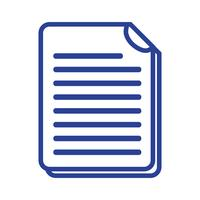 linha de informações de documentos de negócios para informações corporativas vetor