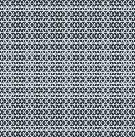 O teste padrão abstrato do triângulo repete a cor azul no fundo branco.