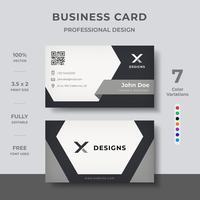 Design de cartão corporativo moderno vetor