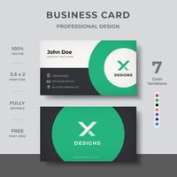 Cartão Corporativo Criativo vetor