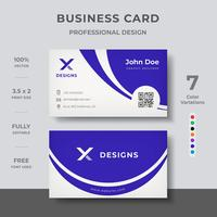 Design de cartão corporativo vetor