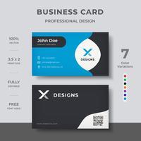Design de cartão de visita limpo vetor