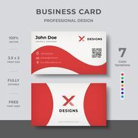 Design de cartão de visita vetor
