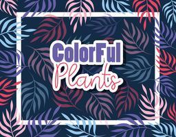 Projeto de plantas coloridas vetor