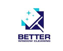 limpeza de janelas serviço de lavagem vetor