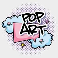 Bolha pop art vetor