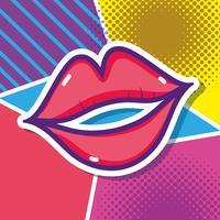 Beijar o desenho de pop art vetor