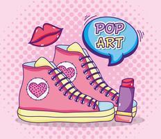 Desenhos animados engraçados de pop art vetor