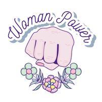 Desenhos animados de poder de mulher vetor