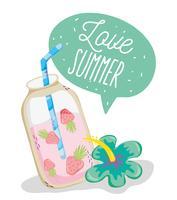 Amo desenhos de verão vetor