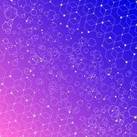 Elementos abstratos da estrutura da conexão da tecnologia no fundo colorido.