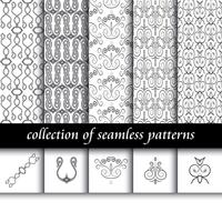 Conjunto de padrões sem emenda de art deco. Texturas modernas e elegantes. fundos abstratos