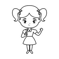 personagem de avatar bonitinha aluna vetor