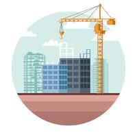 desenho de site de construção vetor