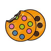 imagem de ícone de cookie vetor