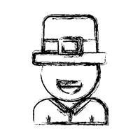 design de chapéu irlandês vetor