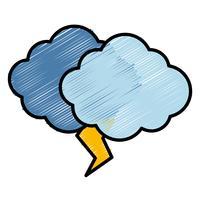 ícone de nuvem e trovão