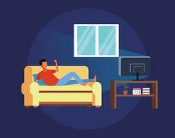 atividades e tempo livre em casa vetor