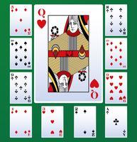 Cartas de lazer de poker