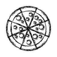 imagem de ícone de pizza vetor