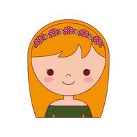 ícone de mulher dos desenhos animados