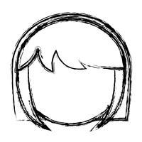 ícone de rosto de mulher dos desenhos animados