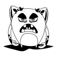 avatar de personagem de quadrinhos engraçado monstro vetor