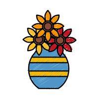 vaso com ícone de flores