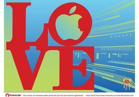 Amor Steve Jobs vetor