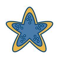ícone de estrela do mar vetor