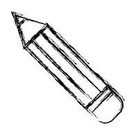 ícone de utensílio de lápis vetor