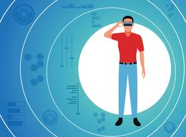 Tecnologia de realidade virtual vetor