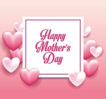 Cartão de dia das mães feliz