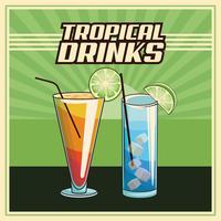 cartaz tropical do cocktail
