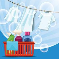 material de limpeza e kit de limpeza vetor